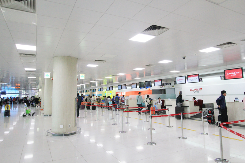 Jeju Airport has two passenger terminals.